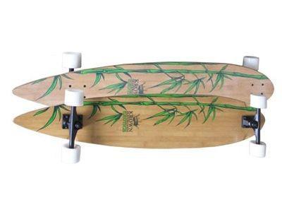 """Krown Longboard Komplettboard Skateboard Exotic Pintail Bamboo Complete Longboard 43"""""""