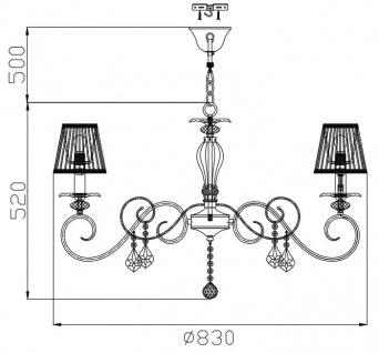 Casa Padrino Barock Kristall Kronleuchter Bronze / Creme Ø 83 x H. 52 cm - Wohnzimmermöbel im Barockstil - Vorschau 3