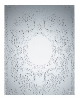 Casa Padrino Art Deco Vintage Wandspiegel Silber 70 x H. 90 cm - Antik Stil Möbel