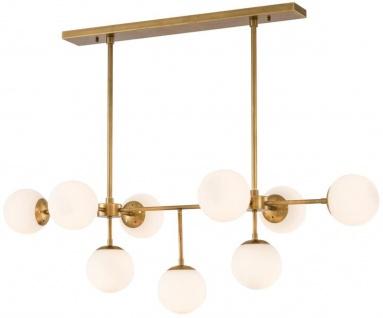 Casa Padrino Luxus Kronleuchter Antik Messing / Weiß 130 x 60 x H. 40 cm - Luxus Möbel