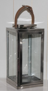 Casa Padrino Designer Laterne aus Aluminium Silber - Kerzenleuchter