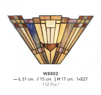 Casa Padrino Tiffany Wandleuchte Durchmesser 31 x 17 cm Wand Leuchte Lampe Wandlampe - Vorschau