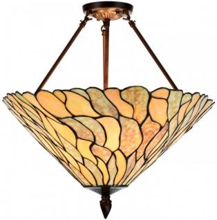 Casa Padrino Luxus Tiffany Deckenleuchte Mehrfarbig Ø 50 x H. 55 cm - Luxus Deckenlampe aus zahlreichen Glas Mosaik Stücken - Vorschau 1