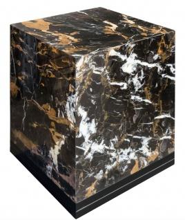 Casa Padrino Beistelltisch Schwarz 40 x 40 x H. 50 cm - Luxus Wohnzimmer Deko