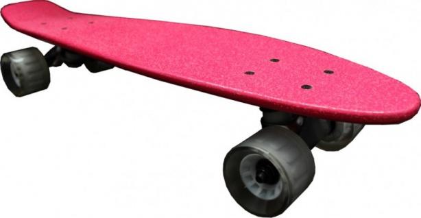 MySkateBrand Oldschool Skateboard Wood Cruiser 70s Style Pink - 25.5 x 5.875 inch - Skateboard Longboard
