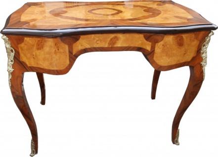Casa Padrino Luxus Barock Schreibtisch Mahagoni Wurzelholz Furnier 100 x 80 x 58 cm- Sekretär Luxus Möbel - Vorschau 5