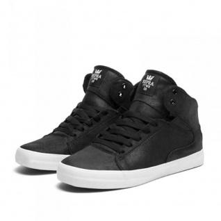 SUPRA Skateboard Schuhe Society Mid Schwarz/Weiß