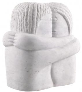 Casa Padrino Designer Marmor Skulptur Weiß 37 x 25 x H. 40 cm - Edle Dekofigur - Marmorfigur - Wohnzimmer Deko Accessoires