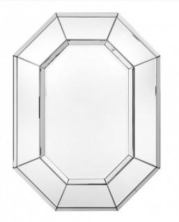 Casa Padrino Luxus Wand Spiegel Art Deco mit Spiegelrahmen 8 Eckig 80 x 106 cm - Wandspiegel