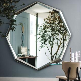 Casa Padrino Luxus Spiegel 200 x 10 x H. 200 cm - Edler Wandspiegel mit verspiegeltem Rand - Luxus Kollektion