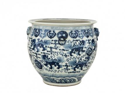 Casa Padrino Designer Porzellan Vase Blau - Limited Edition