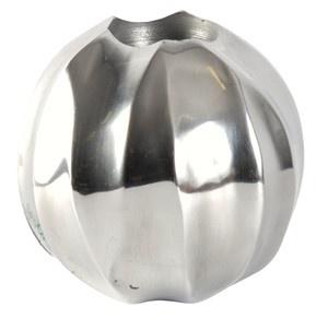 Designer Shine Teelicht Halter aus poliertem Aluminium Durchmesser 12, 5 cm - Teelichter Kerzenhalter