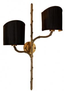 Casa Padrino Wandleuchte Vintage Messing 36 x 15 x H. 53 cm - Luxus Kollektion