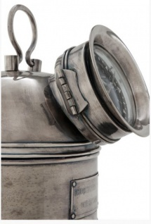 Designer Luxus Uhr Compass Henry Lloyd Collection versilbert Altik-Look- Edel & Prunkvoll - Tischuhr - Vorschau 3