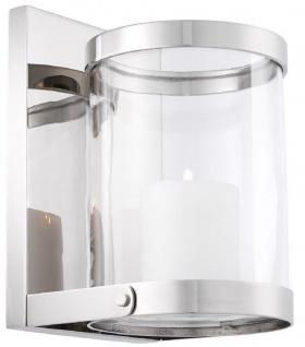 Casa Padrino Luxus Wandkerzenleuchter Silber 17, 5 x 19, 5 x H. 25, 5 cm - Wandkerzenhalter - Deko Accessoires - Vorschau 3
