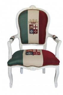 Casa Padrino Barock Salon Stuhl Italien / Creme - Antik Stil