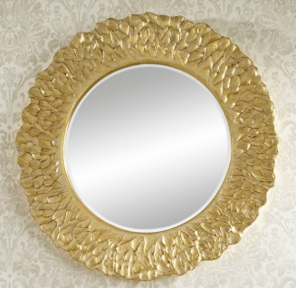 Casa Padrino Hotel / Restaurant Spiegel Gold Ø 110 cm - Luxus Qualität