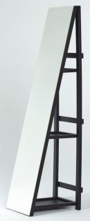 Casa Padrino Standspiegel mit Regale 37 x 37 x H. 160 cm - Luxus Ankleidespiegel