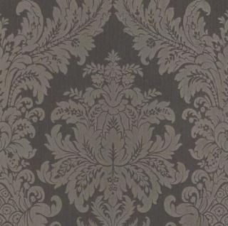 Casa Padrino Barock Textiltapete Anthrazit / Grau 10, 05 x 0, 53 m - Luxus Wohnzimmer Tapete