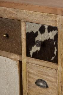Casa Padrino Landhausstil Sideboard mit Tür und 10 Schubladen Naturfarben / Mehrfarbig 85 x 32 x H. 103 cm - Landhausstil Wohnzimmermöbel - Vorschau 4
