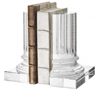 Casa Padrino Kristallglas Buchstützen 2er Set 17 x 8, 5 x H. 21 cm - Designer Hotel Deko - Vorschau 2