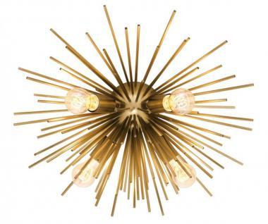 Casa Padrino Luxus Deckenleuchte Messing Ø 58 x H. 26, 5 cm - Luxus Kollektion