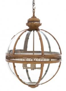 Casa Padrino Barock Hängeleuchte Antik Messing Design Kugel Durchmesser 60 cm, Höhe 88 cm - Barock Schloss Lampe Leuchte Laterne