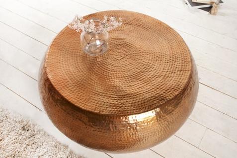 Casa Padrino Luxus Couchtisch kupfer 82 cm kupfer - Wohnzimmer Salon Tisch - Vorschau 2