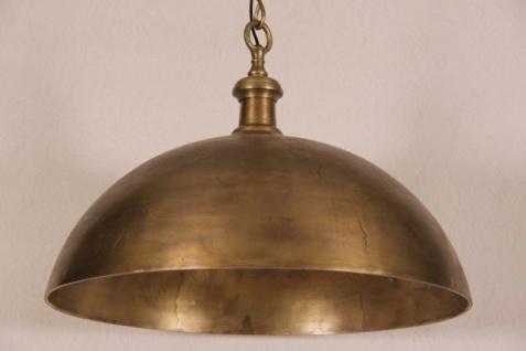 Casa Padrino Hängeleuchte Deckenleuchte Antik Bronze Industrial Design 70cm Durchmesser - Industrie Lampe Leuchte
