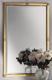 Casa Padrino Luxus Wandspiegel Messingfarben 65 x H. 100 cm - Rechteckiger Messing Spiegel - Wohnzimmer Spiegel - Schlafzimmer Spiegel - Garderoben Spiegel - Luxus Möbel