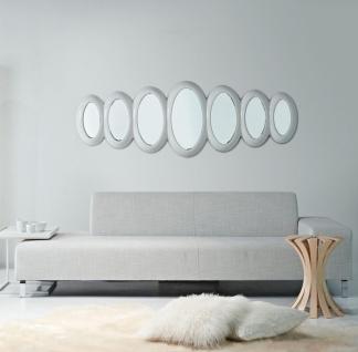 Casa Padrino Luxus Designer Spiegel Hochglanzweiß 195 x H. 67 cm - Hotel Kollektion