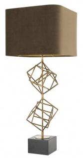 Casa Padrino Luxus Tischleuchte Vintage Messingfarben / Braun 40 x H. 98 cm - Designer Tischlampe - Vorschau 4