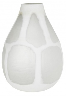 Casa Padrino Deko Glas Vase Weiß Ø 24 x H. 33 cm - Luxus Dekoration