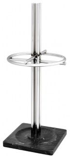 Casa Padrino Luxus Schirmständer Silber / Schwarz Ø 34 x H. 80 cm - Luxus Accessoires