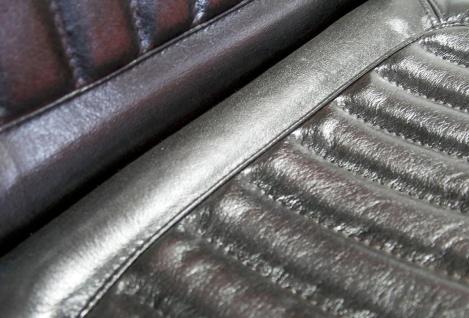 Casa Padrino Vintage Industrial Echtleder Armlehn Stuhl Industriestuhl - ALLE FARBEN - Luxus Sessel Industrie Armlehner Design Möbel Büffelleder - Vorschau 3