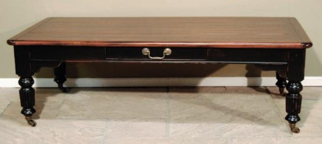 Casa Padrino Antik Stil Couchtisch Schwarz / Braun Antikstil Look 140 x 70 cm - Tisch Beistelltisch Salon Tisch Barock Landhaus Stil