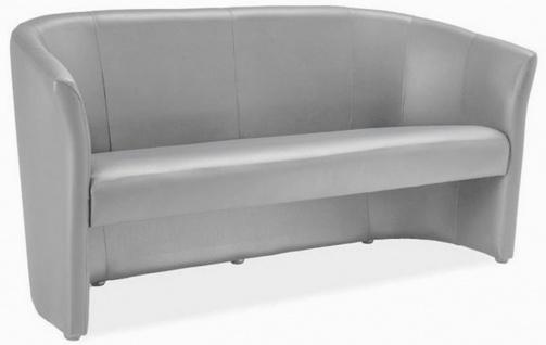 Casa Padrino Designer Kunstleder Sofa 160 x 60 x H. 76 cm - Verschiedene Farben - Wohnzimmer Sofa - Designer Wohnzimmer Möbel