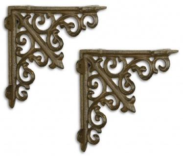 Casa Padrino Jugendstil Wandhalter Set Antik Braun 14 x H. 14 cm - Barock & Jugendstil Wanddeko Accessoires
