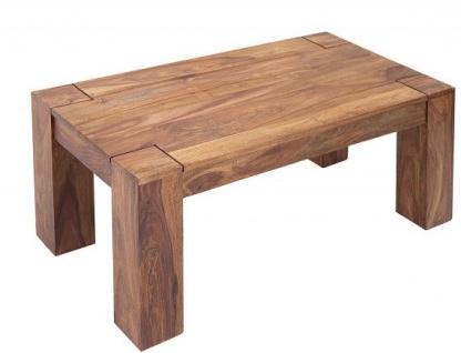 Casa Padrino Designer Massivholz Couchtisch Natur 100 x H. 40 cm - Massivholz - Salon Wohnzimmer Tisch