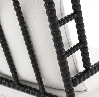 Casa Padrino Luxus Mahagoniholz Sessel Schwarz / Weiß 72 x 95 x H. 108, 5 cm - Hotel Möbel - Vorschau 5