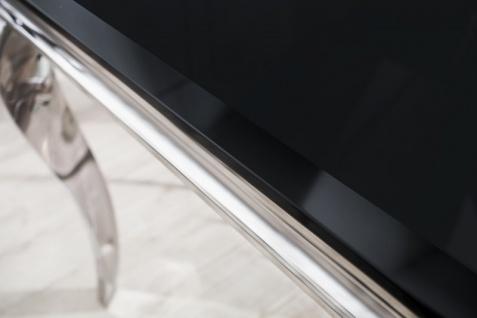 Casa Padrino Designer Esstisch 180 cm Schwarz / Silber - Modern Barock - Vorschau 2