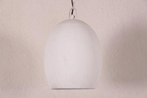 Casa Padrino Hängeleuchte Weiß Metall - Restaurant - Hotel Lampe Leuchte - Industrial Leuchte