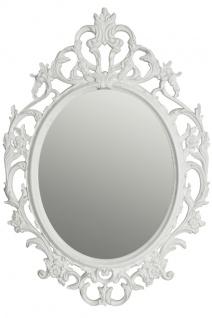 Casa Padrino Barock Wandspiegel Weiß / Gold 58 x H. 84 cm - Barockstil Spiegel mit Holzrahmen