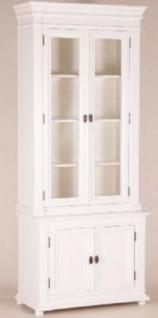 Shabby Chic Landhaus Stil Schrank Buffetschrank 100 x 45 x 245 cm Mod2 - Schrank Esszimmer