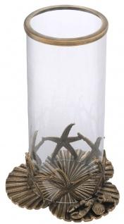 Casa Padrino Luxus Kerzenleuchter Vintage Messingfarben Ø 20, 5 x H. 31, 5 cm - Luxus Deko Accessoires - Vorschau 2