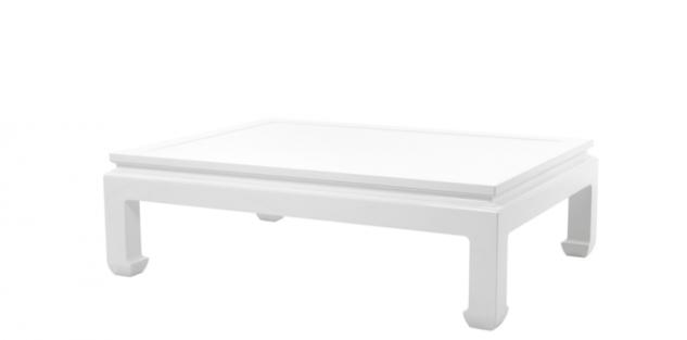 Casa Padrino Luxus Art Deco Designer Mahagoni Couchtisch Weiß - Wohnzimmer Salon Tisch - Luxus Kollektion - Vorschau 1