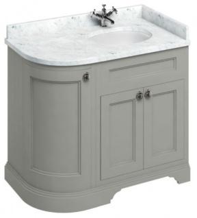 Casa Padrino Waschschrank mit Marmorplatte und 3 Türen - Luxus Waschtisch