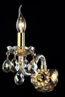 Casa Padrino Barock Wandleuchten Gold 21, 8 x H 18 cm Antik Stil - Wandlampe Wand Beleuchtung