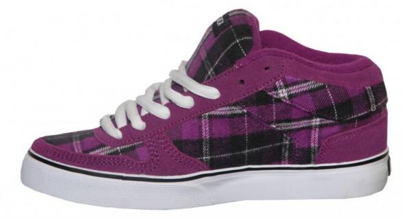 Circa Skateboard Schuhe 8 Track Purple/White/ Black Plaid Sneakers Shoes - Vorschau 2