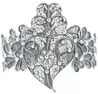 Casa Padrino Luxus Damen Armreif Silber - Handgefertigtes Sterlingsilber Armband - Eleganter Damenschmuck - Damen Armschmuck - Luxus Kollektion